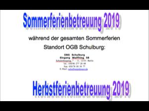 Standorte Ferienbetreuung 2019