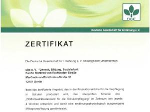 Zertifizierung des Schulessens 2019