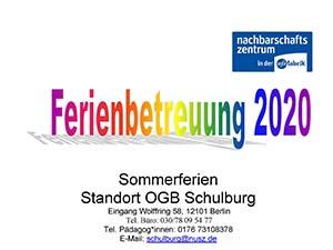 Info – Ferienöffnung 2020
