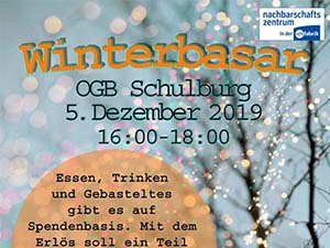 Winterbasar am 05.12.