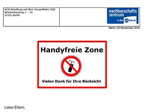 Info – Handyfreie Zone